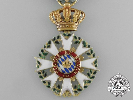 Merit Order of the Bavarian Crown, Knight's Cross (in gold) Reverse
