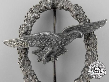 Glider Pilot Badge, by C. E. Juncker (in zinc) Detail