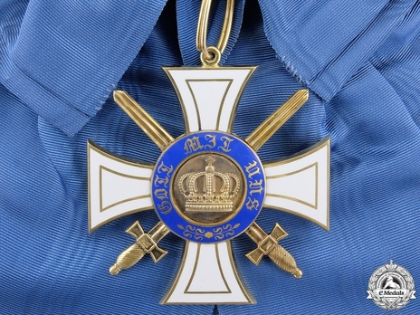 Military Division, Type II, I Class Cross (with swords, in gold)