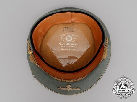 German Army General's Pre-1943 Visor Cap (with metal insignia) Interior