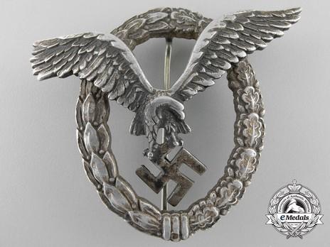Pilot Badge, by Assmann (in aluminum) Obverse