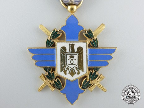 Order of Aeronautical Virtue, Type I, Civil Division, Officer's Cross Obverse