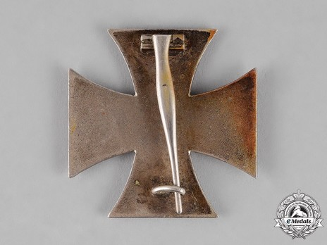 Iron Cross I Class, by P. Meybauer (early pin, marked) Reverse