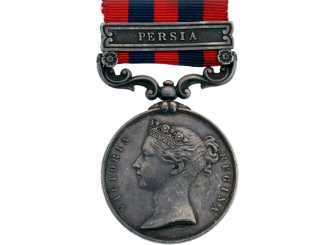 """Silver Medal (with """"PERSIA"""" clasp) Obverse"""