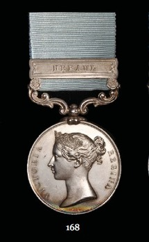 """Army of India Medal (with """"NEPAUL"""" clasp)"""