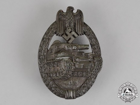 Panzer Assault Badge, in Bronze, by R. Souval Obverse