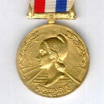 "Gold Medal (with palm branch clasp, stamped ""GEORGES GUIRAUD,"" 1977-) (Bronze gilt by Monnaie de Paris) Obverse"