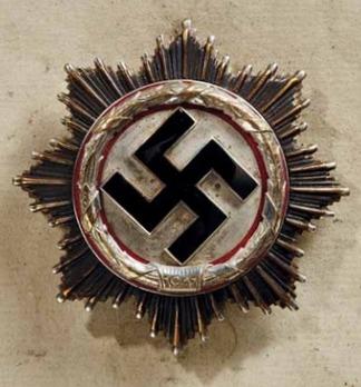 """German Cross, in Silver, by Deschler (4 rivets, """"1"""", cupal) Obverse"""