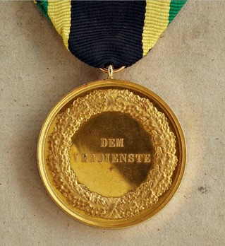 "Merit Medal, Type IV, in Gold (stamped ""HELFRICHT F."")"