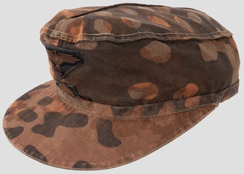 Waffen-SS Camouflaged Field Cap (Lateral Plane Tree pattern) Profile