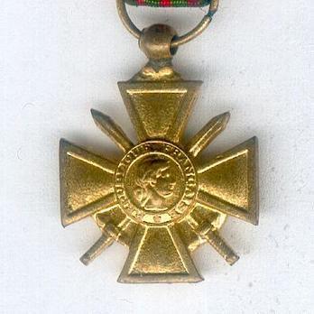 Miniature Bronze Cross (1939 1945) (Gilt) Obverse