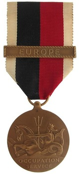 """Bronze Medal (for Navy, with """"EUROPE"""" clasp) Obverse"""