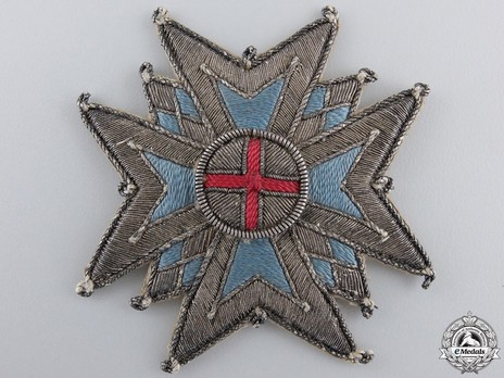 Military Order of St. George, Commander Cross Breast Star (in cloth) Obverse
