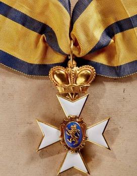 Schwarzburg Duchy Honour Cross, Civil Division, I Class Honour Cross (with crown, in gold, 1901-1918)