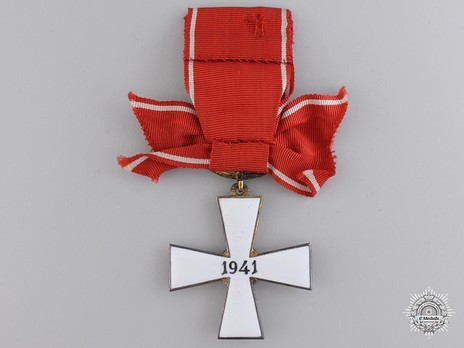 Order of the Cross of Liberty, Military Division, II Class Commander (1941) Reverse