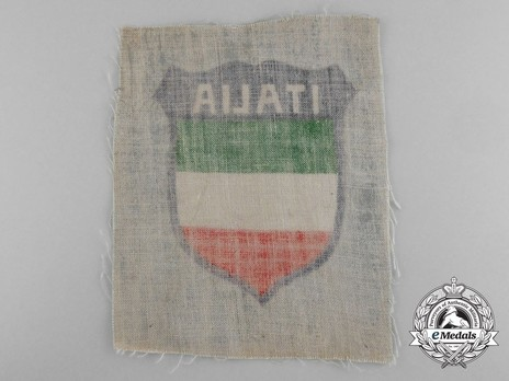 German Army Italy Sleeve Insignia (1st version) Reverse