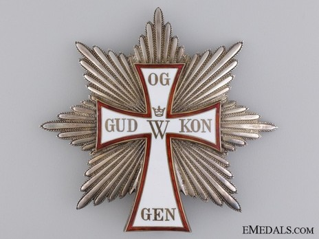 Order of Dannebrog, Grand Cross Breast Star (Silver) Obverse