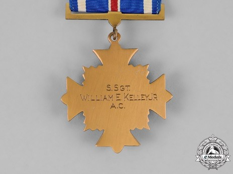 Distinguished Flying Cross (Engraved) Reverse