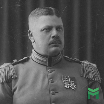 Baron General Yamane von Reinem Dankbaum wearing the Order of Vasa, I Class Knight