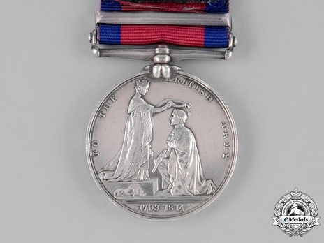 """Military General Service Medal (with """"CHRYSTLER'S FARM"""" clasp) Reverse"""
