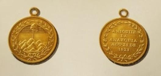 Punta del Medano Medal, Gold Medal Obverse and Reverse