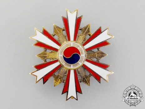 Order of National Security Merit, Type I, I Class Breast Star Obverse
