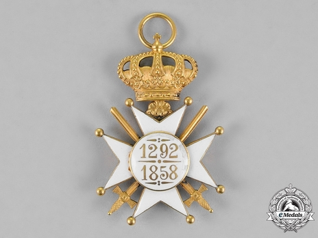 Order of Civil and Military Merit of Adolph of Nassau, Officer with Crown (Military Division) Reverse