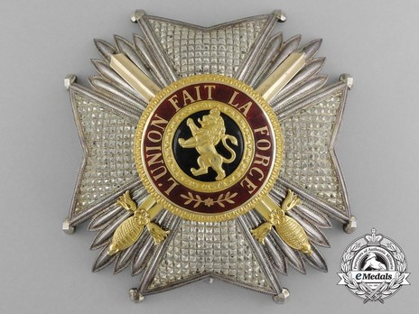 Order of Leopold, Grand Officer Breast Star (Military Division, 1832-1951) Obverse