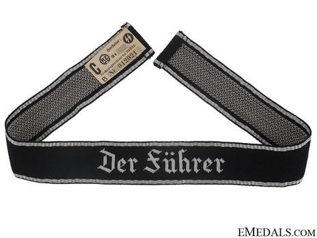 Waffen-SS Der Führer Officer's Cuff Title Obverse