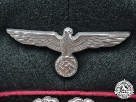 German Army Armoured Officer's Visor Cap Eagle Detail