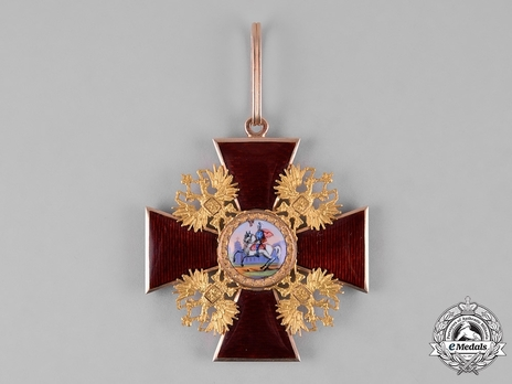 Order of Saint Alexander Nevsky, Type III, Civil Division, Badge (in gold)