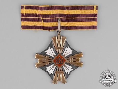 Order of Gediminas, Type I, II Class Cross Obverse