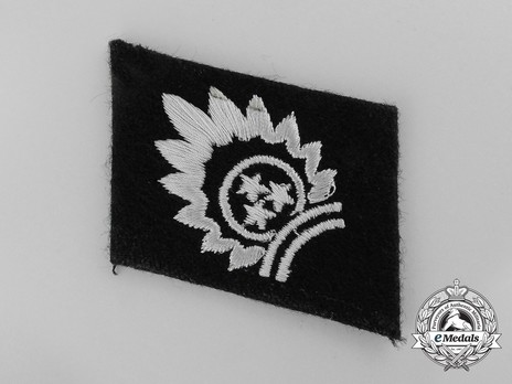 Waffen-SS 1st Latvian Division Sun and Stars Collar Tab Obverse