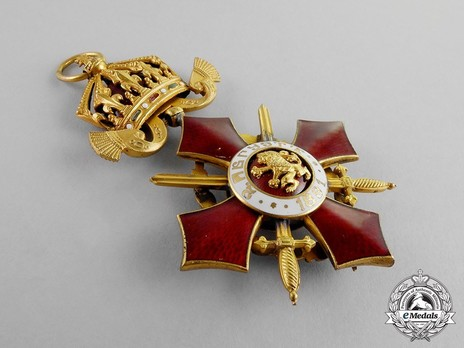 Order of Military Merit, IV Class (with war decoration) Reverse