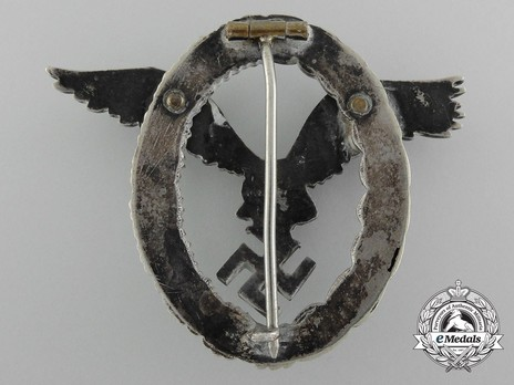 Pilot Badge, by Assmann (in tombac) Reverse