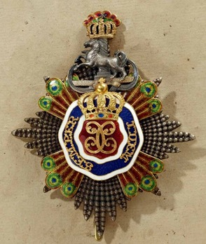 House Antecedent Order of Henry the Lion, Grand Cross Breast Star (with diamonds and coloured gemstones)