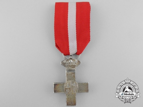 Silver Cross (red distinction with Royal Crown) Obverse