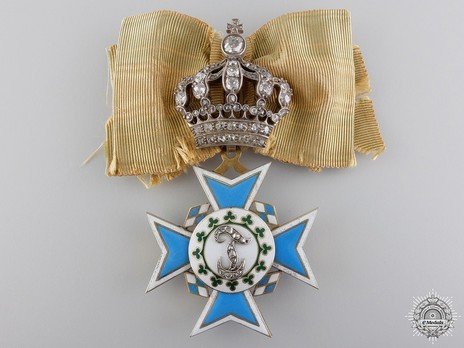 "Order of Theresa, Cross (with diamonds on the ""T"" and crown) Obverse"