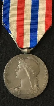 """Medal of Honour for Public Works, Silver Medal (stamped """"O.ROTY"""")"""