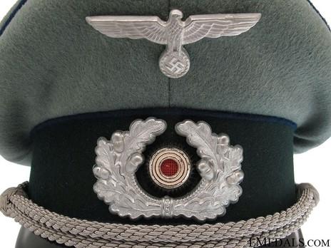 German Army Medical Officer's Visor Cap Insignia Detail
