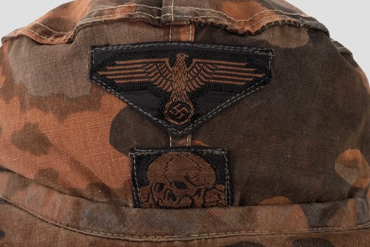 Waffen-SS Camouflaged Field Cap (Lateral Plane Tree pattern) Detail