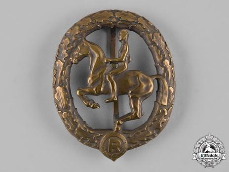 German Horseman's Badge, in Gold (in tombac) Obverse