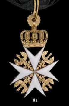 Order of St. John, Type II, Commander Cross (in silver gilt)