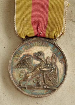 Order of Military Merit of Charles Frederick, Silver Medal (6th model, -1871)