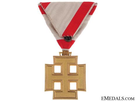 Gold Merit Cross (by Anton Reitterer) Reverse