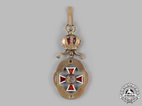 Order of Leopold, Type III, Military Division, Officer's Cross Reverse