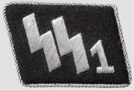"""SS-Standarte 1/VT """"Deutschland"""" Officer Collar Tabs Obverse"""