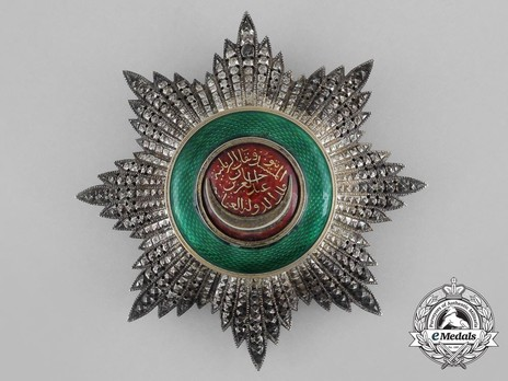 Order of Osmania, Civil Division, II Class Breast Star Obverse