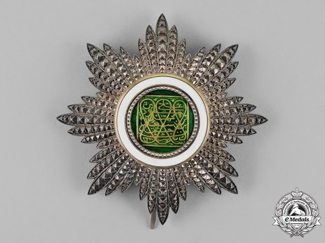 Order of the Brilliant Star of Zanzibar, Type VI, II Class Officer Breast Star Obverse