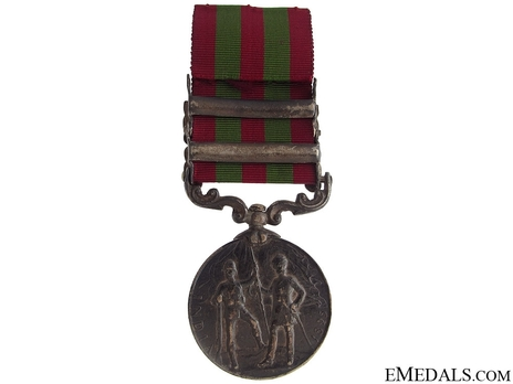 """Silver Medal (with """"PUNJAB FRONTIER 1897-98"""" and """"WAZIRISTAN 1901-02"""" clasp) (1896-1901)  Reverse"""